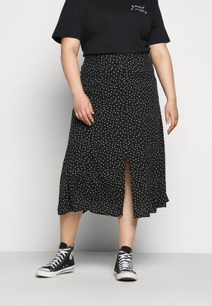 CARLOLA LONG  - A-line skirt - black/white