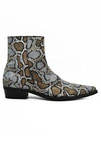 Fertini - Cowboy/biker ankle boot - serpentine gray - 3