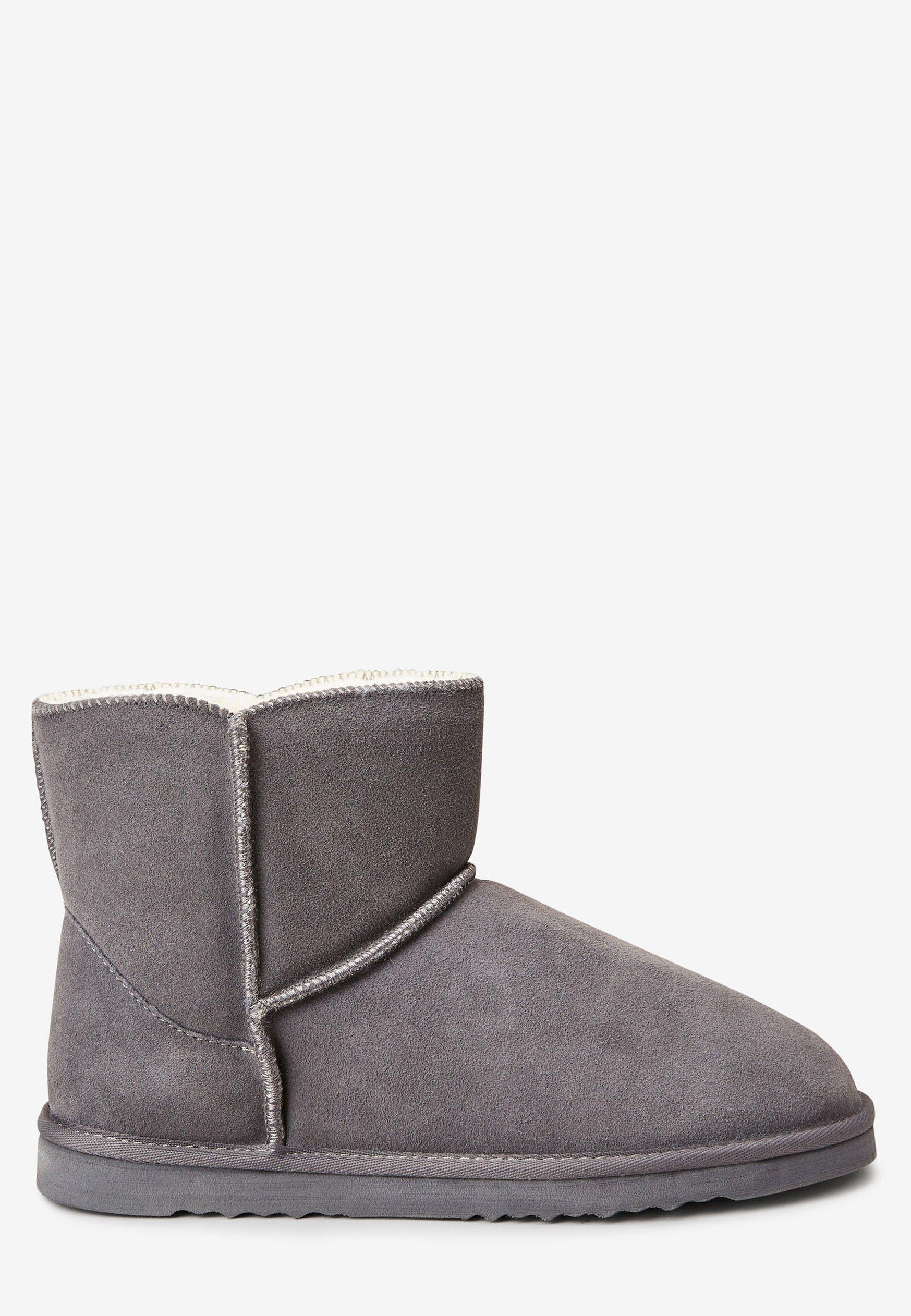 Next CHESTNUT SUEDE SLIPPER BOOTS Stiefelette grey/grau