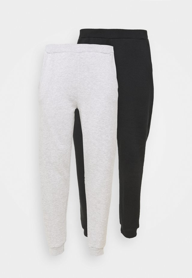 2er PACK - REGULAR FIT JOGGERS - Træningsbukser - black/light grey