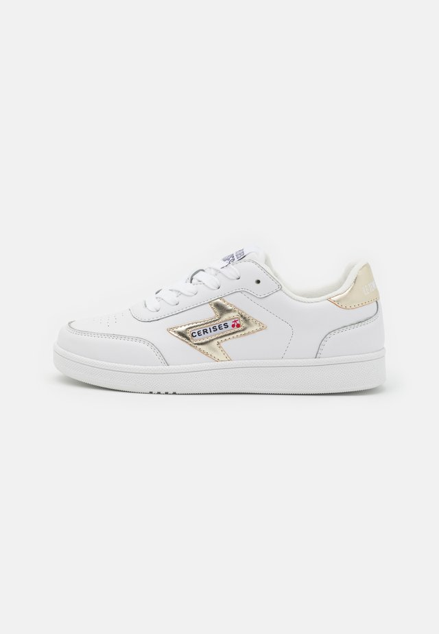 FLASH - Sneakers laag - white/gold