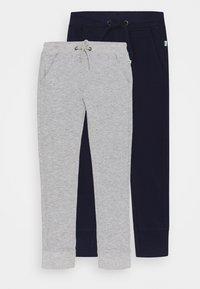 Blue Seven - SMALL BOYS TROUSERS 2 PACK - Pantalon de survêtement - nachtblau/nebel - 0