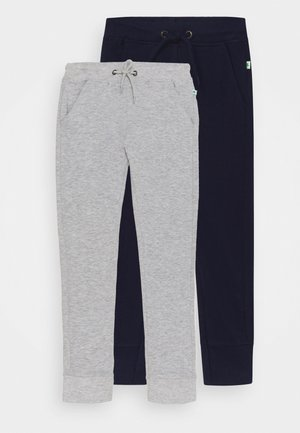 SMALL BOYS TROUSERS 2 PACK - Tracksuit bottoms - nachtblau/nebel