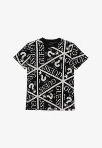 Guess - JUNIOR UNISEX OVERSIZE ICON - T-shirt imprimé - jet black - 2