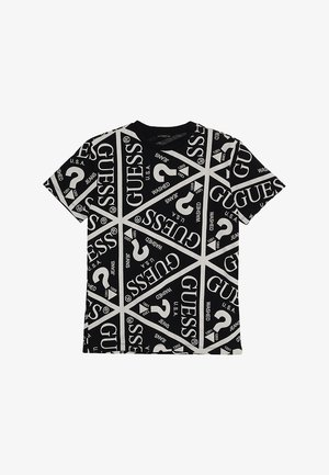 JUNIOR UNISEX OVERSIZE ICON - Camiseta estampada - jet black