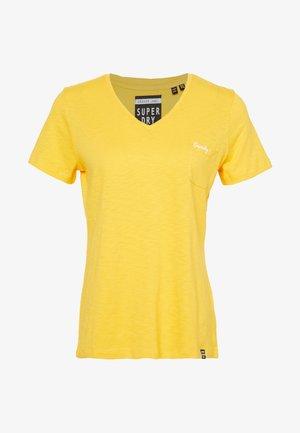 ESSENTIAL VEE TEE - Camiseta básica - springs yellow