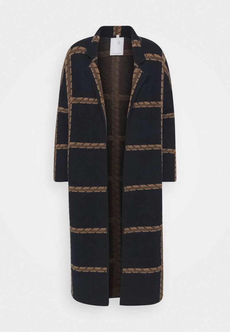 Thought - CHATTERTON CARDIGAN COAT - Classic coat - midnight navy