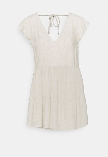 RUFFLE TRAPEZE SHORT DRESS