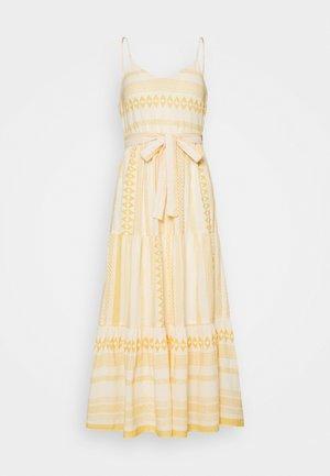 VMDICTHE SINGLET ANCLE DRESS VIP  - Maxi dress - birch/new dicthe/saffron