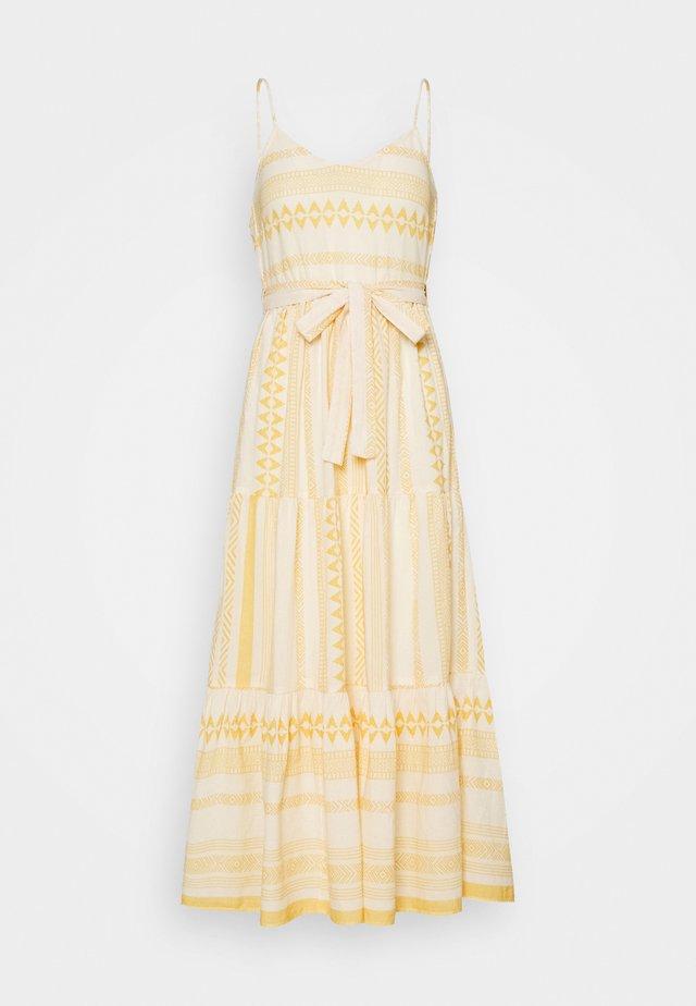 VMDICTHE SINGLET ANCLE DRESS VIP  - Maxi-jurk - birch/new dicthe/saffron
