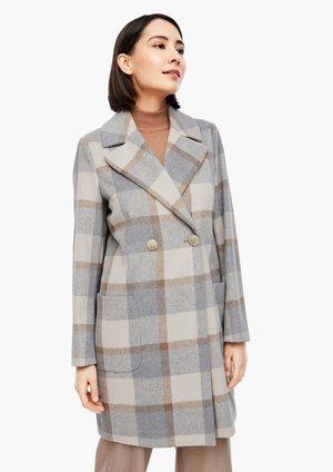 Winter coat - grey check