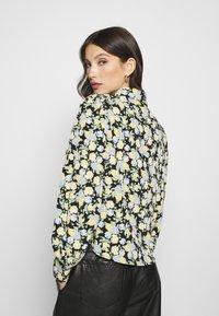 Monki - NALA BLOUSE - Button-down blouse - black dark unique - 2