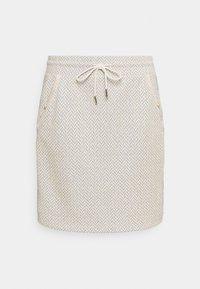 Rich & Royal - SKIRT - Mini skirt - pearl white - 0