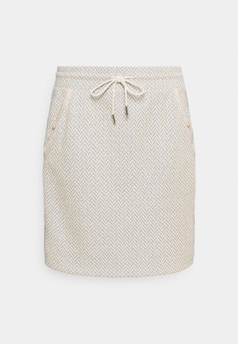 Rich & Royal - SKIRT - Mini skirt - pearl white