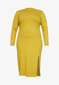 Zign Curvy - Shift dress - oliv - 3