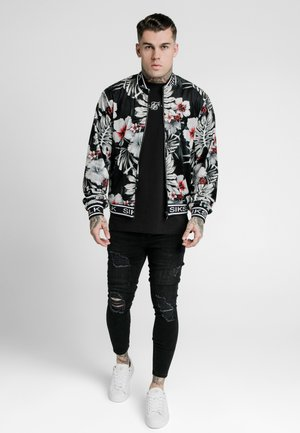 FLORAL JACKET - Bomberjacks - black
