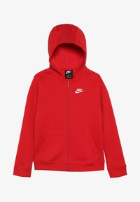 Nike Sportswear - HOODIE CLUB - Mikina na zip - university red/white - 3