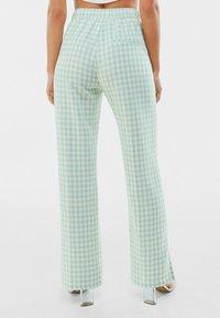 Bershka - Trousers - green - 2