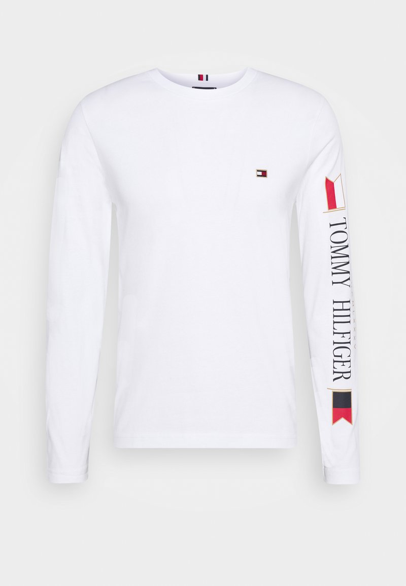 Tommy Hilfiger - MIRRORED FLAGS LONG SLEEVE  - Long sleeved top - white