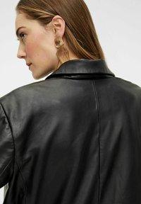 YAS - Leather jacket - black - 4