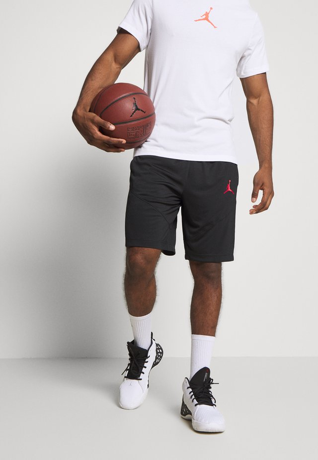 JUMPMAN SHORT - Pantaloncini sportivi - black/black/white/gym red