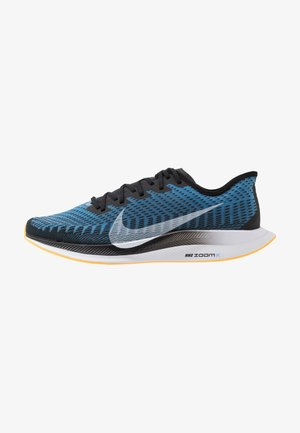 ZOOM PEGASUS TURBO 2 - Neutral running shoes - black/white/university blue/laser orange