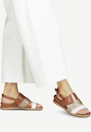 Sandalen met sleehak - nut lea. comb