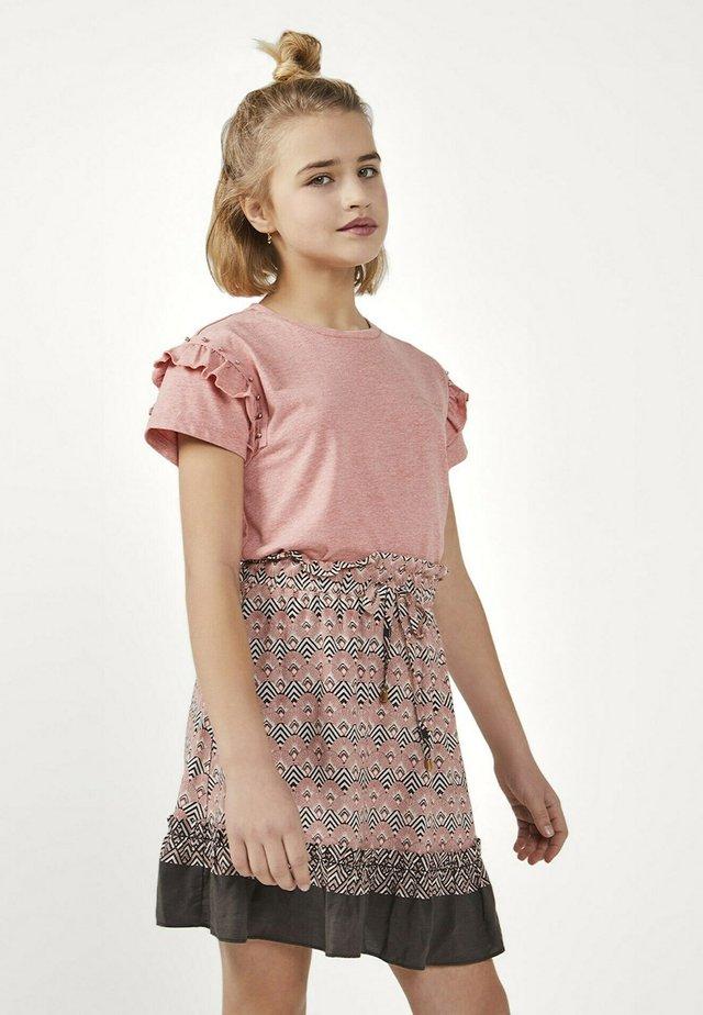 KAYLE RETRO VIS  - Mini skirt - rood