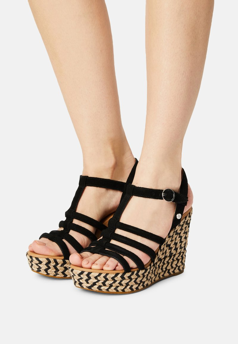 UGG - CRESSIDA - Wedge sandals - black