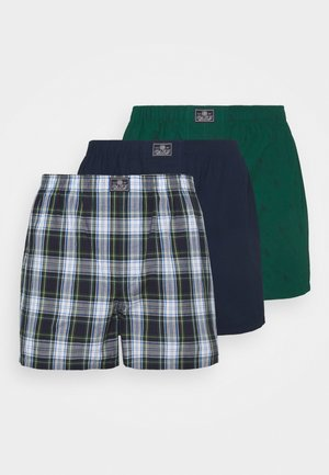 OPEN BOXER 3 PACK - Boxer shorts - green/navy