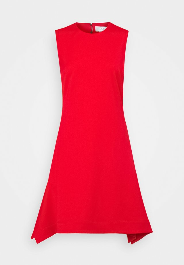 DRAWSTRING BACK FLOUNCE LIGHTWEIGHT STRETCH DRESS - Korte jurk - postbox red