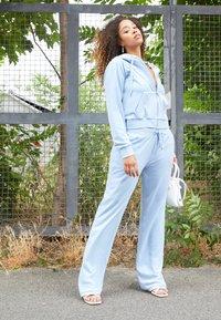 Juicy Couture - NUMERAL HOODIE - Zip-up sweatshirt - powder blue - 1