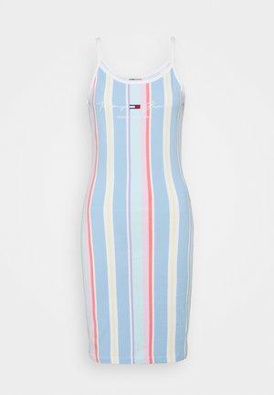 STRIPE STRAP DRESS - Jersey dress - light powdery blue