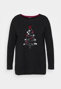 Evans - CHRISTMAS TREE JUMPER - Jumper - black - 0