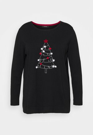 CHRISTMAS TREE JUMPER - Strikpullover /Striktrøjer - black