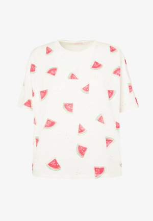 WATERMELON SHORT-SLEEVED T-SHIRT 30259786 - Pyjama top - white