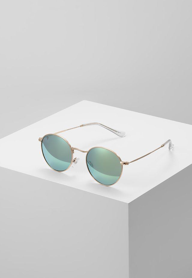 LIAM - Lunettes de soleil - gold-coloured/green mirror