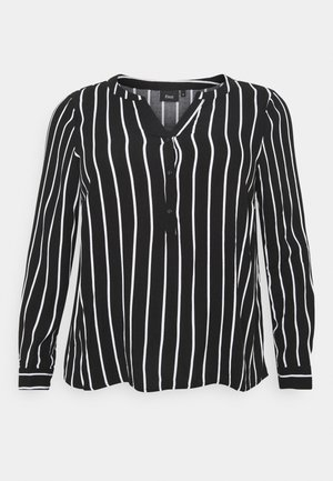 VAMONE BLOUSE - Blouse - black white