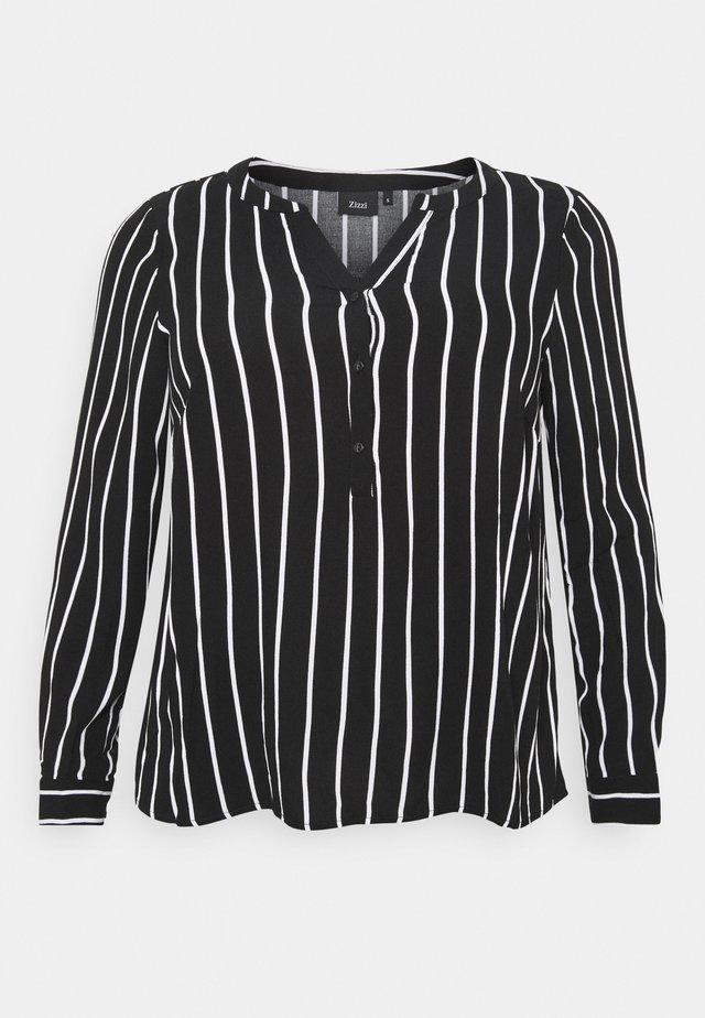 VAMONE BLOUSE - Camicetta - black white