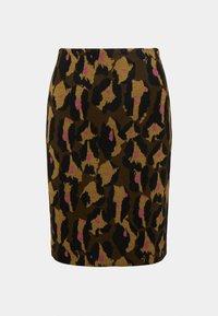 Diane von Furstenberg - LORNA SKIRT - Mini skirt - giant cocoa brown - 4