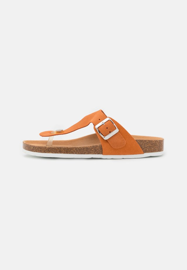 MOLLY THONG - T-bar sandals - rust orange