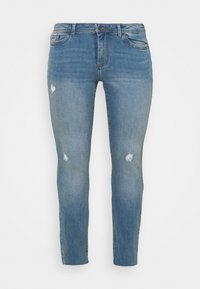 VMMANYADINA CROPPED - Jeans Skinny Fit - medium blue denim
