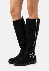 New Look - DOLLY SIDE ZIP CHUNKY - Støvler - black - 0