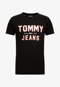 Tommy Jeans - ESSENTIAL 1985 LOGO TEE - Print T-shirt -  black - 3