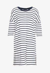 Marc O'Polo - DRESS 3/4 SLEEVE ROUND NECK STRIPED - Kjole - white - 0