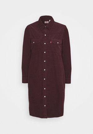 SELMA DRESS - Shirt dress - malbec