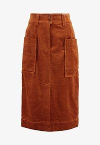 And Less - ORI SKIRT - Pouzdrová sukně - rawhide - 3