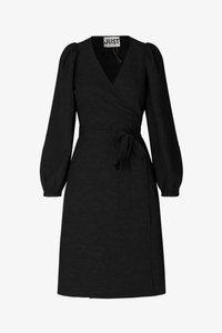 JUST FEMALE - TODA WRAP DRESS - Day dress - black - 6