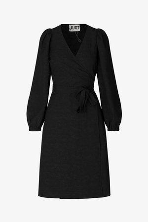 TODA WRAP DRESS - Day dress - black