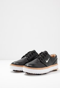 Nike Golf - JANOSKI G TOUR - Golfskor - black/metallic white/vachetta tan/medium brown/white - 2
